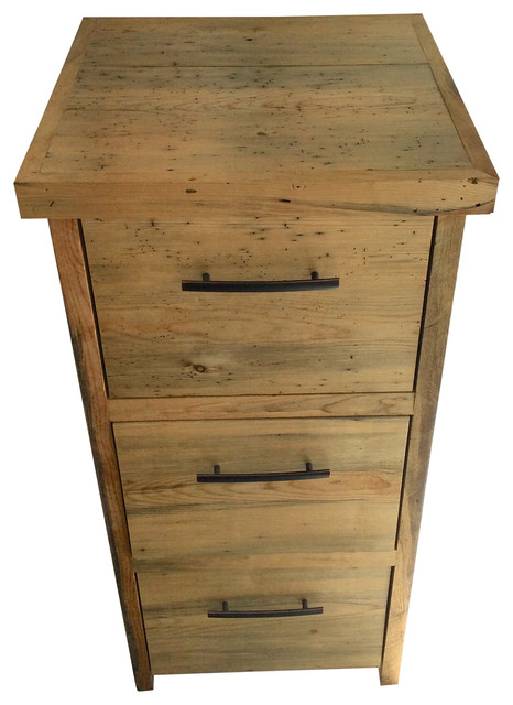 3 Drawer Reclaimed File Cabinet - Rustic - Filing Cabinets - by Reclaimed Secrets