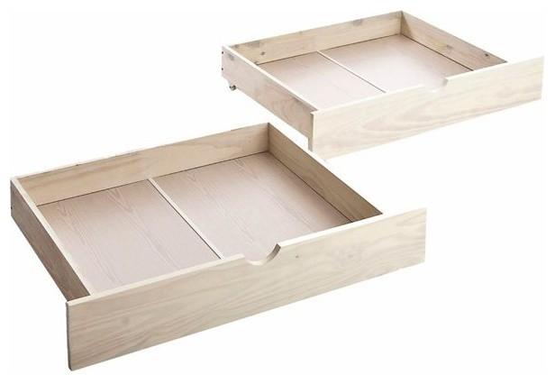 tiroir de lit roulettes pin lot de 2 bolton. Black Bedroom Furniture Sets. Home Design Ideas