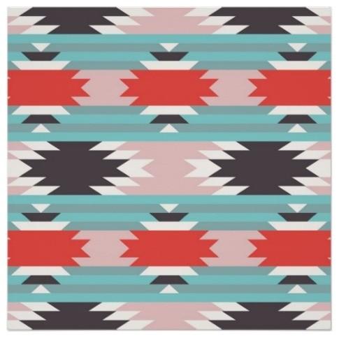 Aztec Tribal Pattern Native American Print