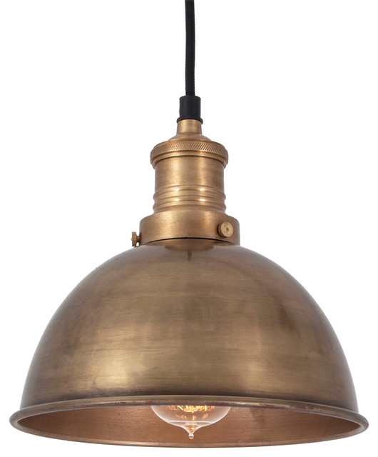 Brooklyn Vintage Small Metal Dome Pendant Light