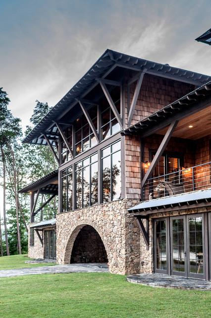 Rustic Lake House Interiors: Modern Rustic Lake House