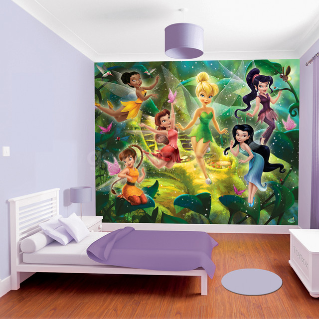 Walltastic disney fairies wallpaper mural for Disney fairies wall mural