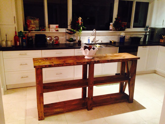 6ft Barn Style Farm House Style Rustic Kitchen Island Entry Way Table Rustic Side Tables