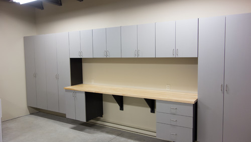 <who>Photo Credit: Contributed / Stor-X Organizing Systems</who>The team at Stor-X Organizing Systems in Kelowna helped these homeowners maximize their storage space, while providing a dedicated workbench for household projects.