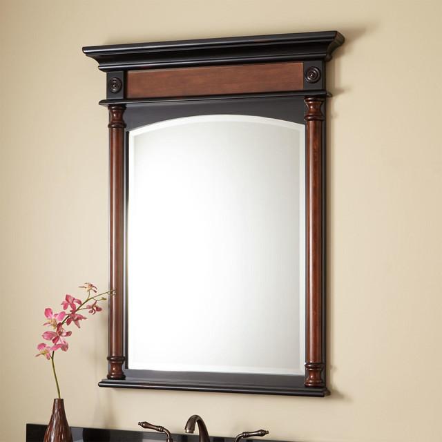 32 Haywood Vanity Mirror Cherry Traditional Bathroom Mirrors By Signature Hardware