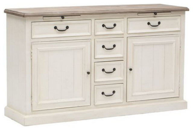 cottage buffet sideboard white beach style buffets and