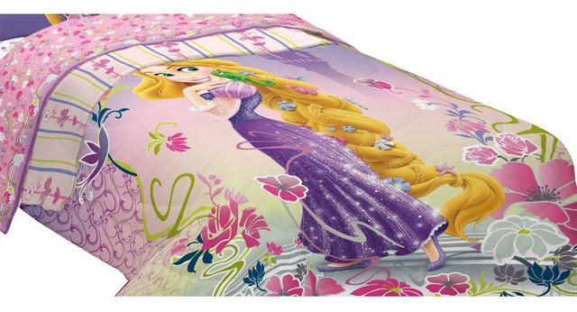 Disney Tangled Twin Comforter Rapunzel Magic Bedding .