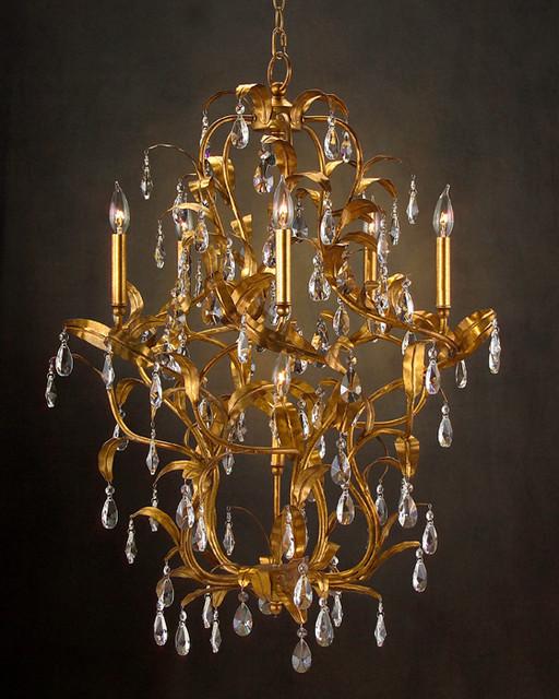 john richard 6 light chandelier ajc 8649 contemporary. Black Bedroom Furniture Sets. Home Design Ideas