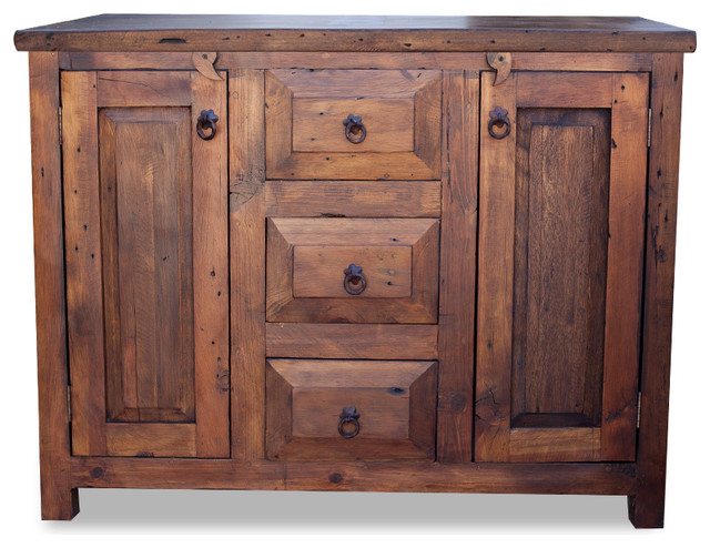"3-Drawer Reclaimed Wood Vanity, 36"" - Farmhouse - Bathroom Vanities And Sink Consoles - by ..."