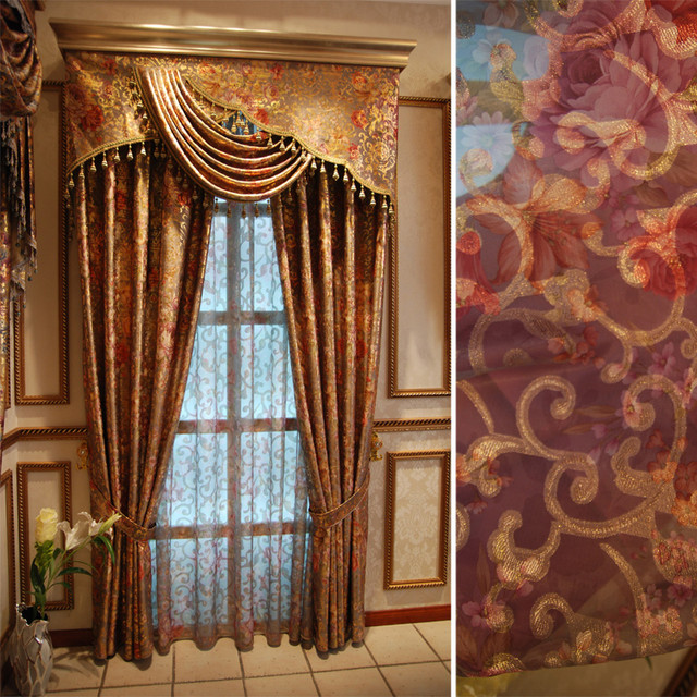 Customized Curtains In Golden Color