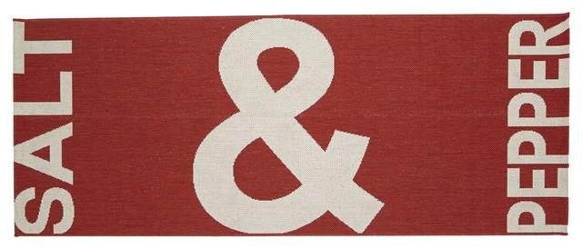 Salt tapis de cuisine rouge contemporain tapis de for Tapis de cuisine salt pepper