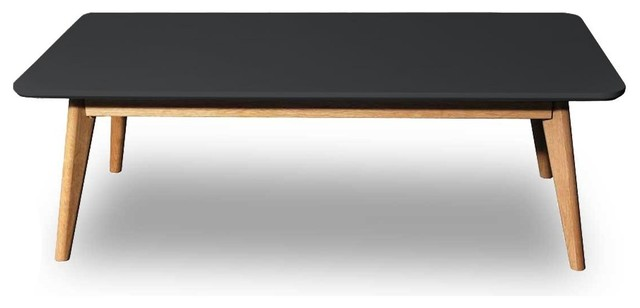 Table basse design scandinave rectangle skoll couleur noir - Table basse design noire ...