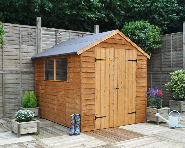 8x6 apex shed double door traditional sheds west for Garden shed 8x6