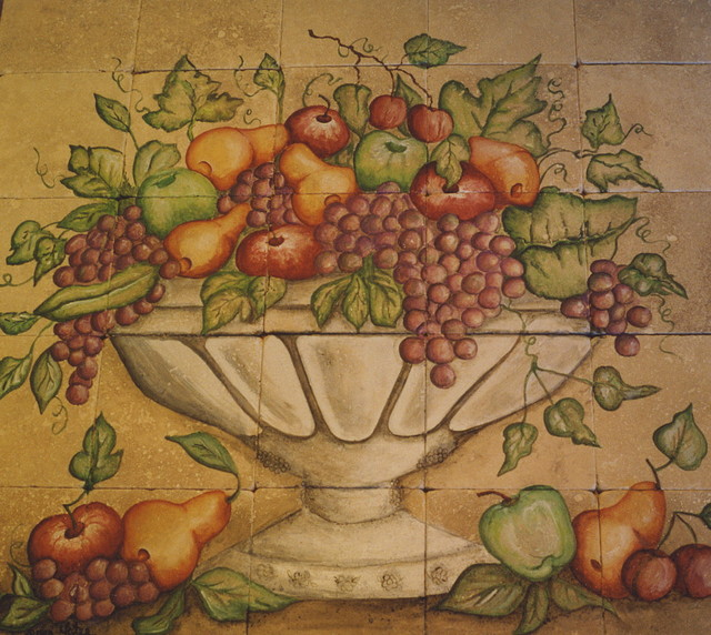 Kitchen Fruit Mural Eclectic Tile San Diego By