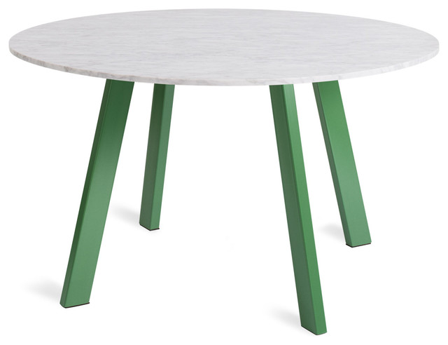 Round 52 Marble Dining Table Grass Modern Dining Tables By Blu