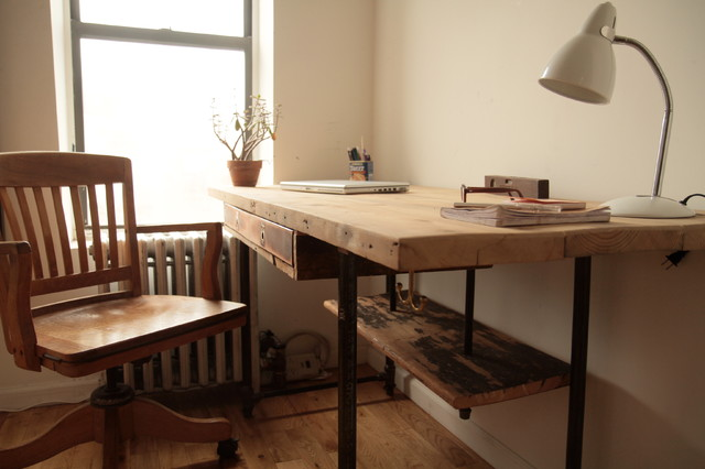 Industrial Reclaimed Wood Stand-Up Desk - Modern - Desks And Hutches - New York - by Coil + Drift