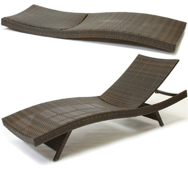 Lakeport Outdoor Adjustable Chaise Lounge Chair Set Of 2 Contemporary Ou