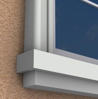 Mx204 exterior window sills molding and trim toronto for Exterior window design molding