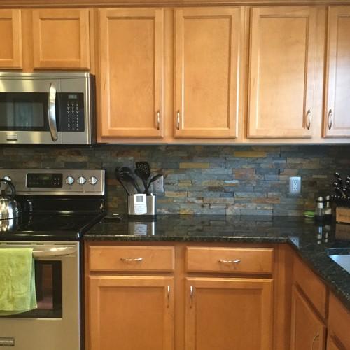 Oak Counter Grey Kitchen