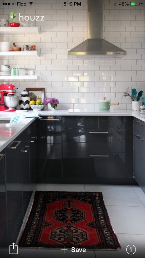 ikea cabinets in glossy black