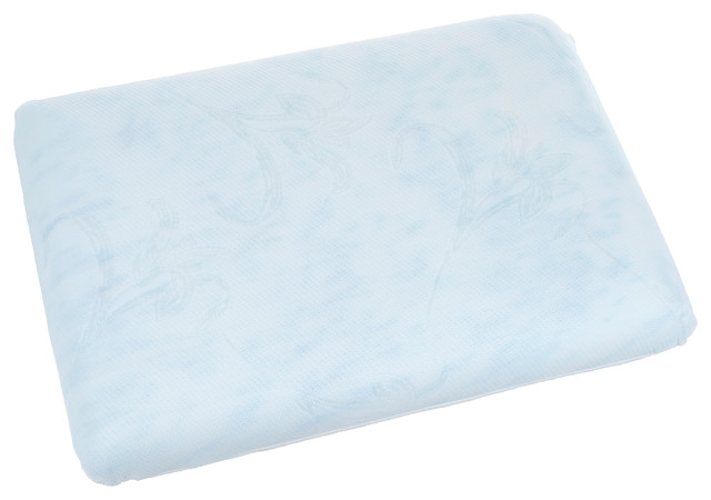 Blue Memory Foam Classic Bedroom Pillow by Remedy - Traditional - Bed Pillows - by Trademark Global