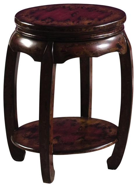 Hidden Treasures Round Stool Contemporary Bar Stools