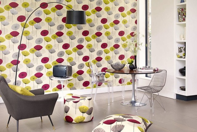 dandelion clocks wallpaper blackcurrant contemporain papier peint wales par davies. Black Bedroom Furniture Sets. Home Design Ideas