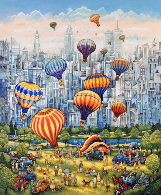 Central park balloons wall mural contemporary wall decals for Central park mural