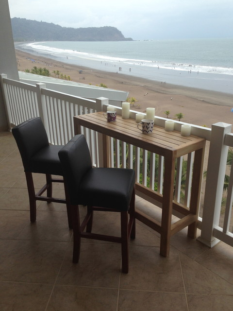 Palms Teak Bar Table For Balcony Beach Style Indoor Pub And Bistro Tables  Other Metro