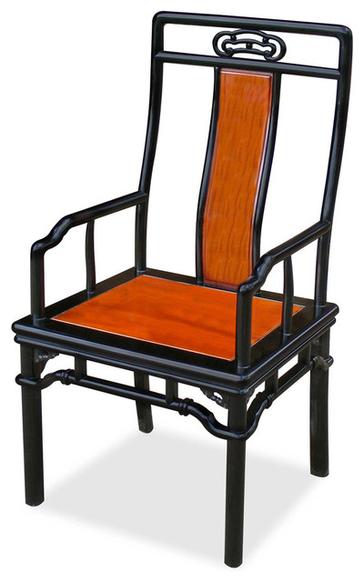 Rosewood ming long arm chair asiatisch sessel von for Asian furniture westmont il