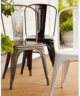 tm cafe chair metal traditional dining chairs by pottery barn