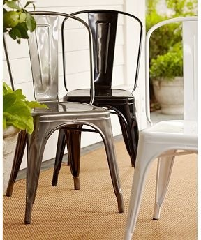 Tolix TM Cafe Chair Metal Traditional Dining Chairs By Pottery Barn