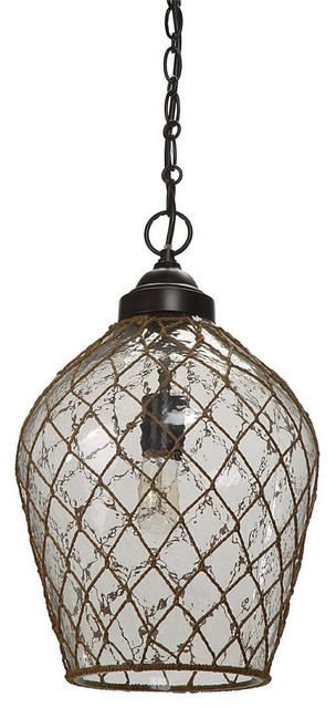 Regina Andrew Clear Pendant with Jute - Traditional - Pendant Lighting - by Candelabra