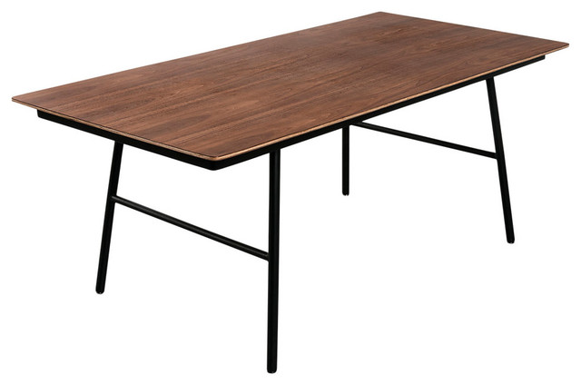 School Dining Table In Walnut Contemporary Dining Tables By SmartFurniture