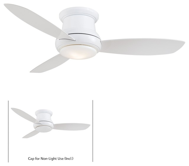 "Roof Lighting Concept In Basic Form: 44"" Concept II Ceiling Fan In White"