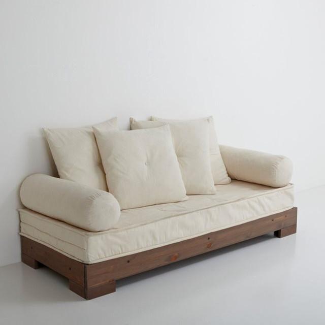 banquette lit de repos sahel 3 places socle co contemporain lit de jour. Black Bedroom Furniture Sets. Home Design Ideas