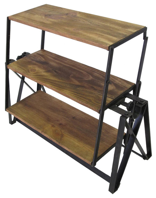 Swing Industrial Shelf Table Rustic Dining Tables By