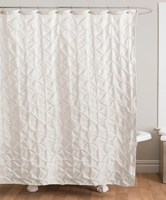 Ivory Lake Como Shower Curtain - Modern - Shower Curtains