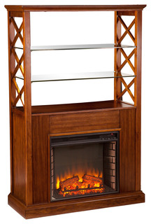 Ryland Electric Fireplace Curio Tower