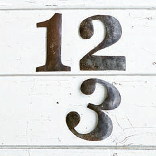 Primitive Numbers - Eclectic - Home Decor - atlanta - by Iron Accents
