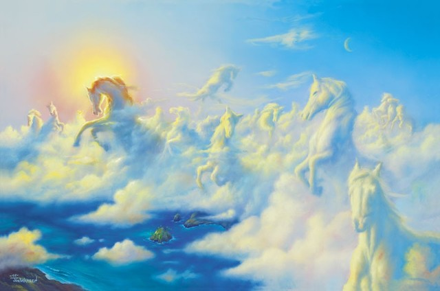 Above the clouds wall mural contemporary wallpaper for Cloud mural wallpaper