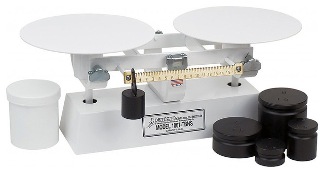 Detecto Enamel Balance Beam Scale Mechanical 16 Lb White Traditional Kitchen Scales By