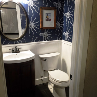 Home With Nautical Roots Eclectic Powder Room Seattle By Mise En Plac