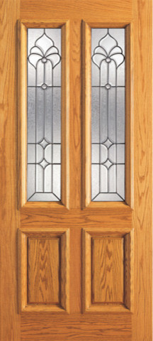 Mahogany twin lite home single door insulated beveled for Insulated front doors for homes