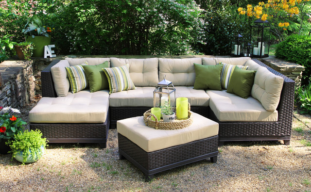 Hillborough 4pc Sectional Contemporary Outdoor Lounge