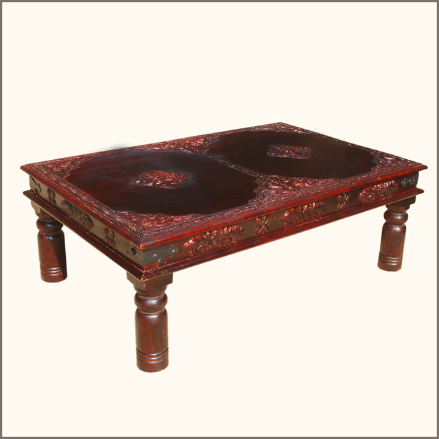 Heritage style antique brass work cocktail coffee table contemporary coffee tables austin Antique brass coffee table