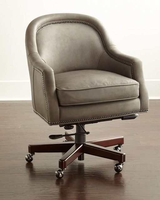 capri leather office chair gray contemporary office