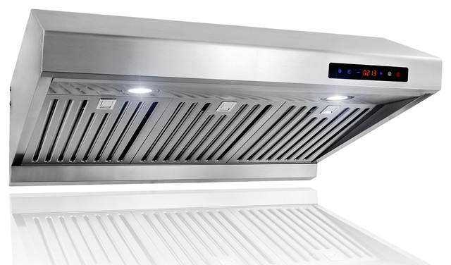 GV 30-Inch Stainless Steel Under Cabinet Range Hood W/Baffle Filter And Cleaner - Contemporary ...