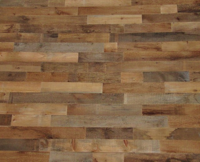 Reclaimed wood wall covering rustic wall decor by - Rustic wall covering ideas ...