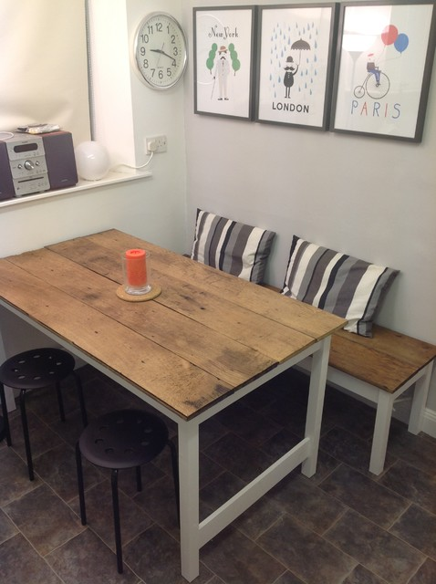 Kitchen Table And Bench Contemporary Dining Tables Other By Brook Cottage Design